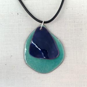Turquoise and Blue Enamel